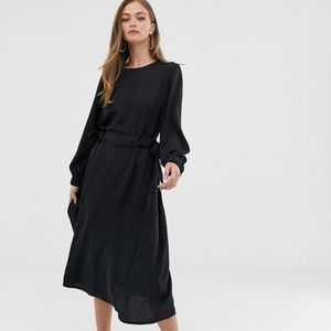 ASOS Ruched Waist Midi Dress